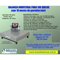 Balança Industrial 100 quilos - BK 50 (sem coluna)